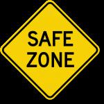 safe zone security zone sign k 0417